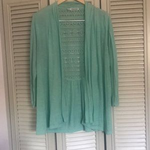 Maurices mint cardigan